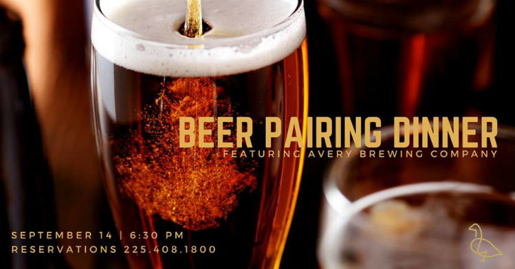 beer pairing dinner at the gregory